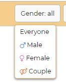 Chatspin Gender
