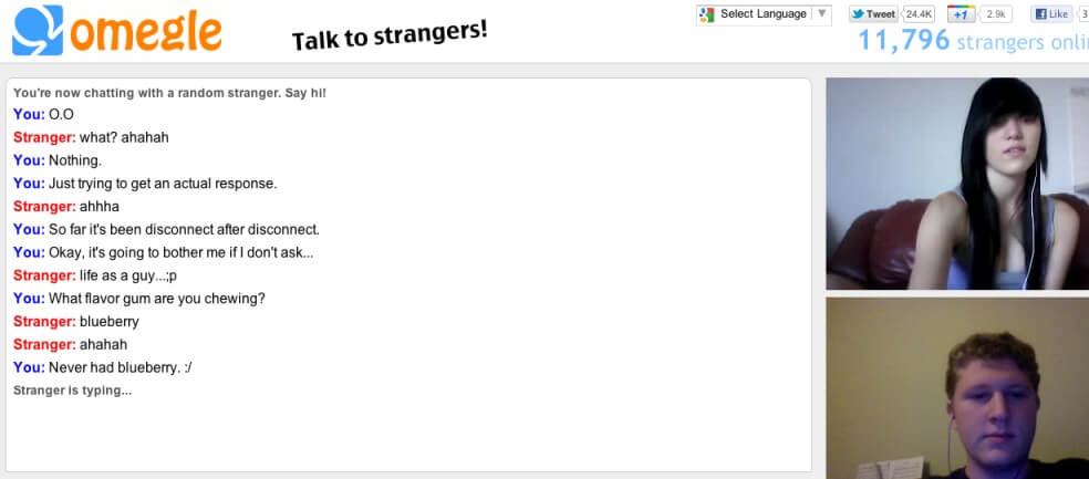 Omegle live chat